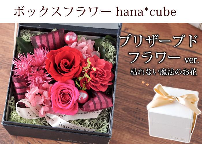 hana*cube プリザーブドフラワー